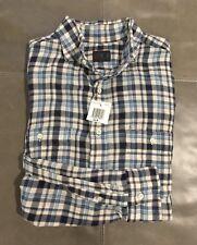NWT Eidos Napoli Isaia Italy WORK Mens 100% Combed Cotton Shirt 17.5 44 XXL $365