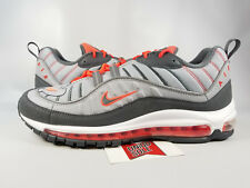 Nike Air Max 98 WOLF DARK GREY CRIMSON RED ORANGE 640744-006 sz 11