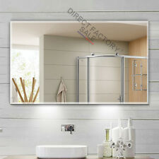 1500 X 900x5mm Frameless Bathroom Wall Mirror Bevel Edge Commercial Large Luxury