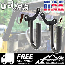 GraBars Front Grab Bars with Black Grips for 1987-1995 Jeep Wrangler YJ 1019