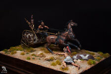 Mycenaean Chariot and Greek hoplite 54mm Tin Painted Toy Soldier | Museum