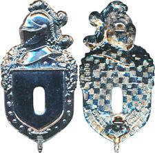 Plateau Insigne Gendarmerie, chromé, guilloché, Drago Marne La Vallée 696 (7691)