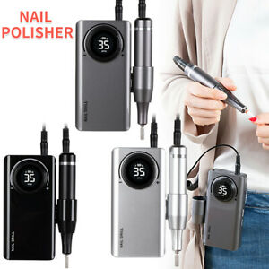 Portable Rechargeable Electric Nail Drill File Manicure Cordless Machine 6 Bits