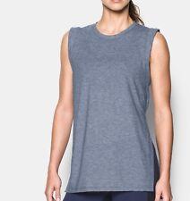 Under Armour Women's UA Loose Fit Breathe Tunic Tank Vest - S (10)  - Blue