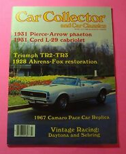 CAR COLLECTOR & CAR CLASSICS  JULY/1985...TRIUMPH TR2 - TR3...VINTAGE RACING