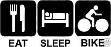 Comer dormir Bicicleta Sticker Decal Montaña Bmx