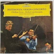 BEETHOVEN: Violin Concerto, Christian Ferras, Karajan DGG 139 021 Germany LP