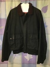Australian Outback Collection Green Oilskin Jacket Flannel Lined Men's M Medium
