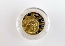 More details for 1986 statue of liberty centennial 5 dollar proof gold coin