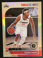 TERANCE MANN ROOKIE 2019-20 NBA HOOPS PREMIUM STOCK RC SILVER HOLO PRIZM # 245