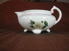 Homer Laughlin Cream Color Eggshell Nautilus Creamer Magnolia with Bud Pattern