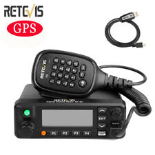 RT90 DMR Dual Band GPS Transceiver Digital Mobile Amateur Car Radio VHF&UHF 50W