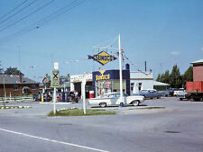 SUNOCO GAS and OIL SERVICE STATION  PUMPS  EARLY 1960'S