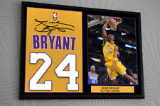 """Kobe Bryant LA Lakers Framed Tribute Canvas Print Signed """"Great Gift"""""""