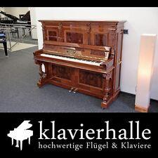 """Prachtvolles, restauriertes (Konzert-) Klavier, """"Berdux, München"""", Wurzelnuss"""