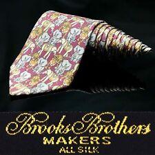 Brooks Brothers Makers Animal Tiger 🐯 Elephant 🐘 Necktie Tie Silk Men Ties