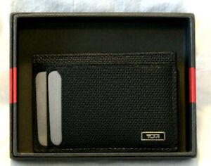 Tumi Monaco SLG Leather Money Clip / Card Case - NWT