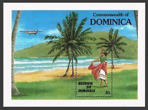 Dominica 1080,MNH.Mi 1092 Bl.128. Reunion-1988 Tourism campaign.Belaire dancer.