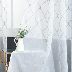 Geometric Sheer Curtains Short Windows Curtains Drape For Kitchen Living Room