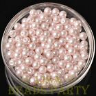 New 50pcs 6mm Round Glass Pearl Loose Spacer Beads Jewelry Making Baby Pink