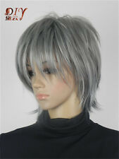 New Style Women Dark Gray Wavy Synthetic Daily Cosplay Hair Full Short Wig