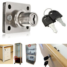 Cam Lock w/ 2 Keys For Office Furniture Cabinet Cupboard Door  Drawer Mailbox