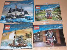 4x Lego Fluch der Karibik! Black Pearl und 3x Jack Sparrow mit Zubehör und Boot