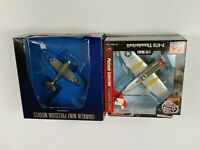 franklin mint precision models 1:100 and red tails 1:72 airplane models lot of 2