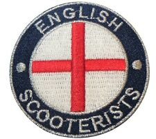 English Scooterist England Flag St George Iron/ Sew On Embroidered MODS Patch