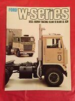 """1968 Ford """"W-SERIES DIESEL HIGHWAY TRACTORS"""" Truck Dealer Showroom Brochure"""