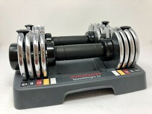 Weider Speed Weights Adjustable Dumbbells 25 Lbs Total Weight - Weights & Stand