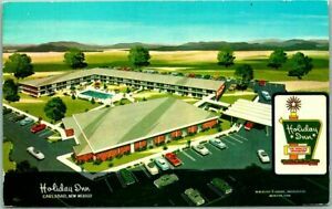 CARLSBAD, New Mexico Postcard HOLIDAY INN MOTEL Artist's View Roadside 1979