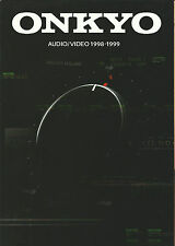 ONKYO HI-FI Catalogo Prospetto 98/99 tx-ds939 tx-8511 dx-7911 md-2521 ta-6711 ecc.