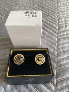 Alfred Dunhill Gyro Black Pearl Gold Tu Cufflinks