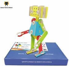 Dodo Talent Robot Wooden Blocks Construction Building Toys Set (78 Pieces)