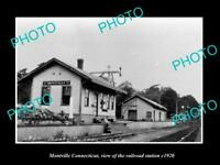 OLD LARGE HISTORIC PHOTO OF MONTVILLE CONNECTICUT THE RAILROAD DEPOT c1920
