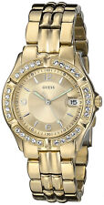 Guess Pulsera Reloj Mujer Woman Bracelet Watch Gold Steel Case Oro Crystals Hand