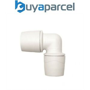 """Polypipe PolyMax MAX122 22mm Pushfit 90""""Degree Elbow White Single"""