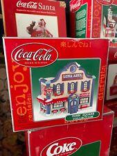 Vintage Coca-Cola Luna Azul Town Square Village House Collection in Box