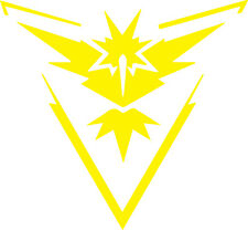 Pokemon Go Team Instinct yellow Car/Truck/Vinyl Decal/Sticker iPad macbook