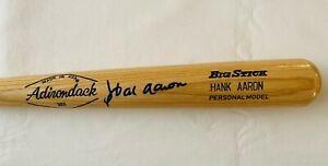 "HANK AARON Signed 34"" ADIRONDACK 302 Personal Model Bat - JSA LOA"
