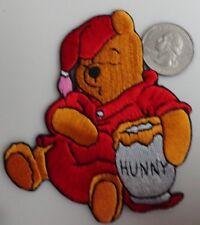 Sleepy Winnie The Pooh - Disney Cartoon Classic Embroidered Iron On Patch - Rare