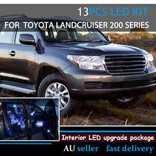 Upgrade Car White Interior Led Light Bulb Kit For Toyota Land Cruiser 200 13pcs