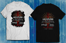 Halestorm In This Moment Tour  Men's T-Shirt Black White Size S-2XL