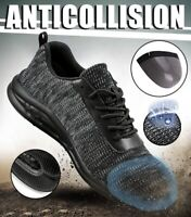 Men Safety Shoes Outdoor Hiking Work Boots Steel Toe Anti-puncture