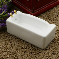 1:12 Scale Dollhouse White Porcelain Bath Tub Miniature Bathroom Decoration