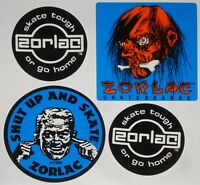 ZORLAC - Skateboard Sticker - Shut Up And Skate - Skate Tough - Shrunken Head
