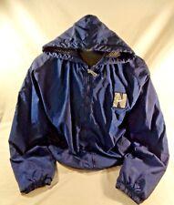 Mens Vintage 90s  Nike Full Zip Lined Big Swoosh Navy Blue Coat Jacket Size XXL
