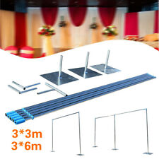 3x3m/3x6m Telescopic Heavy Duty Pipe and Drape Kit Wedding Backdrop Stand Set