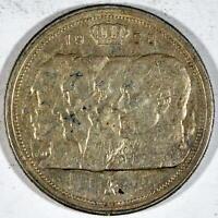 BELGICA 100 francos PLATA 1950 REYES BELGAS KM#138.2 leyenda en francés BELGIQUE